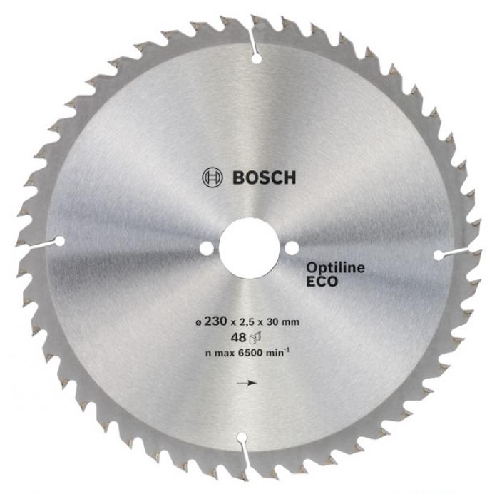 Пила твердосплавная Bosch ECO 230х30х 48 Optiline 2608641794