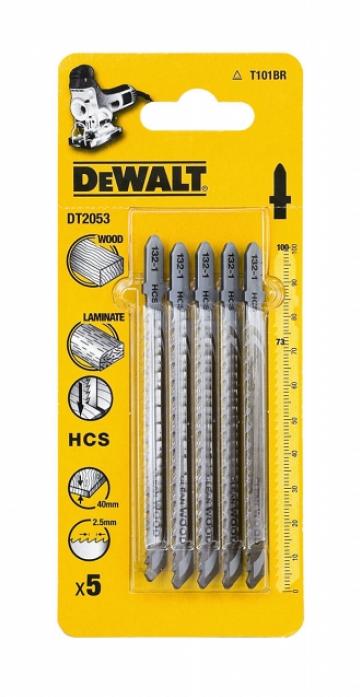 Пилки для лобзика DeWalt T101BR 5шт DT 2053