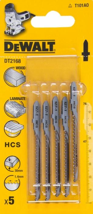 Пилки для лобзика DeWalt T101 АО 5шт DT 2168