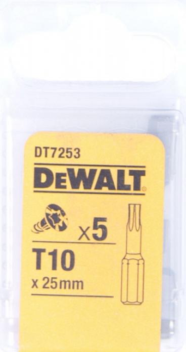 Набор бит DeWalt Тоrх Т10 25мм 5шт DT 7253