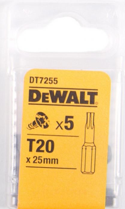 Набор бит DeWalt Тоrх Т20 25мм 5шт DT 7255