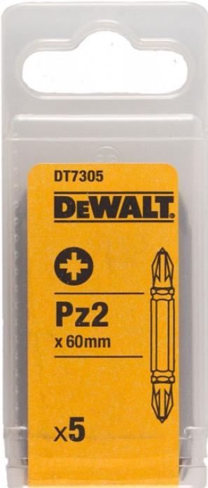 Набор бит DeWalt Рozidriv 2 60мм 5шт DT 7305