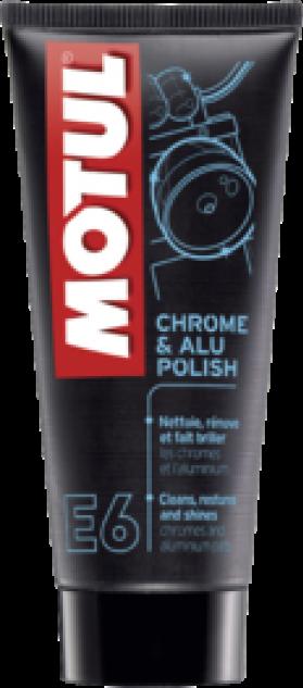 Средство для очистки хромированных и алюминиевых частей мотоцикла MOTUL E6 Chrome & Alu Polish 0,1л. 103001