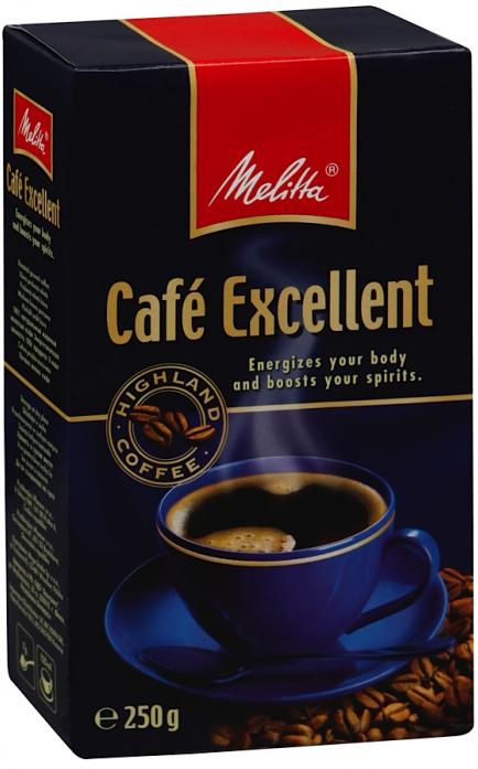 Кофе Melitta Excellent жареный молотый 250гр 00284