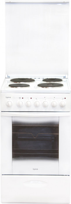 Электрическая плита Лысьва ЭП 4/1э3р3 МС белая, со стеклянной крышкой