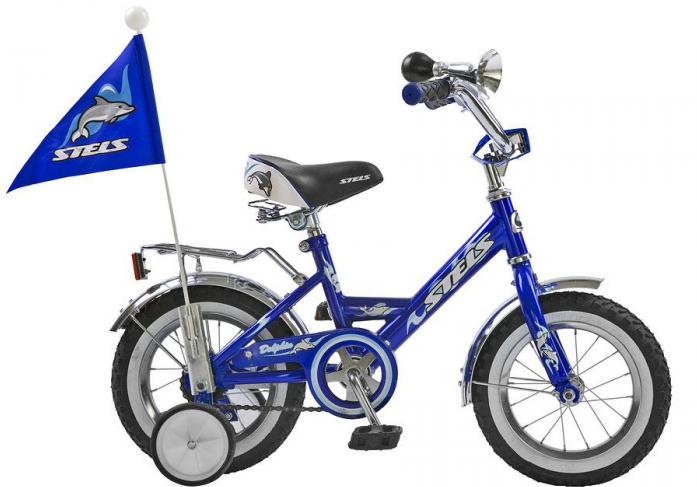 """Велосипед детский Stels Dolphin 16"""" с боковыми колесами, синий 2015"""