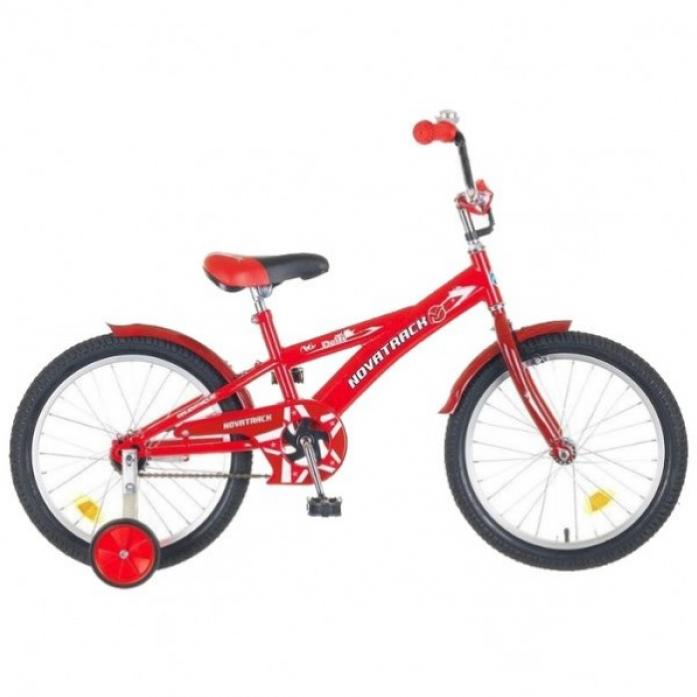 """Велосипед детский Novatrack Delfi 20"""" рама сталь красный-бордовый с боковыми колесами"""