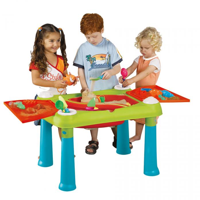 Столик Keter для детского творчества и игры с водой и песком 17184058 Бирюзово-красный