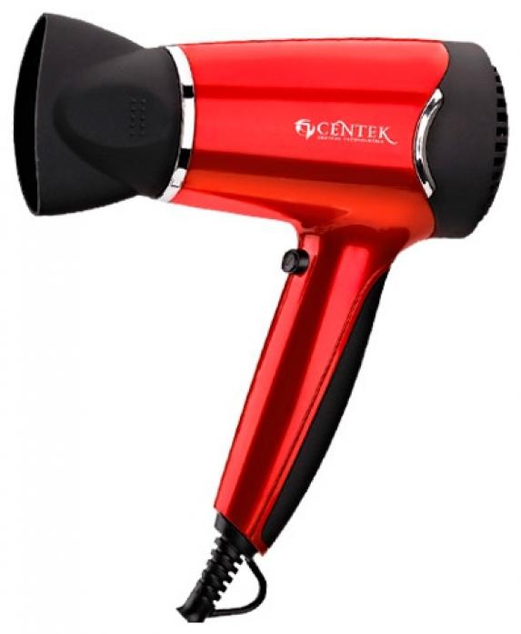 Фен Centek CT-2215 черный/красный