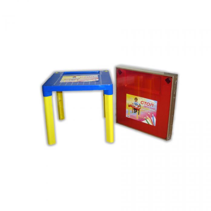 Стол Полимербыт Малыш 42000 Синий/Желтый