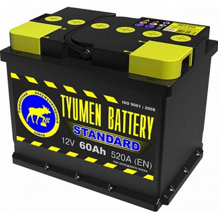 Аккумулятор TYUMEN BATTERY STANDARD 60 А/ч обратная R+