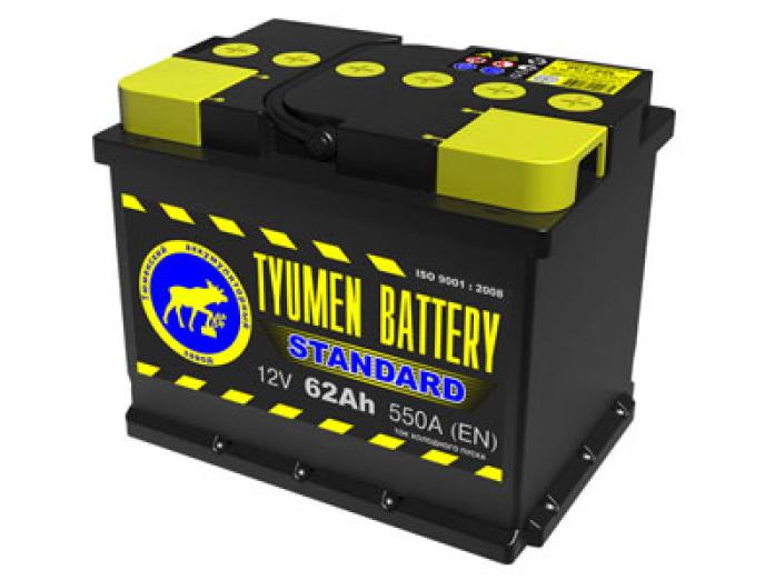 Аккумулятор TYUMEN BATTERY STANDARD 62 А/ч обратная R+
