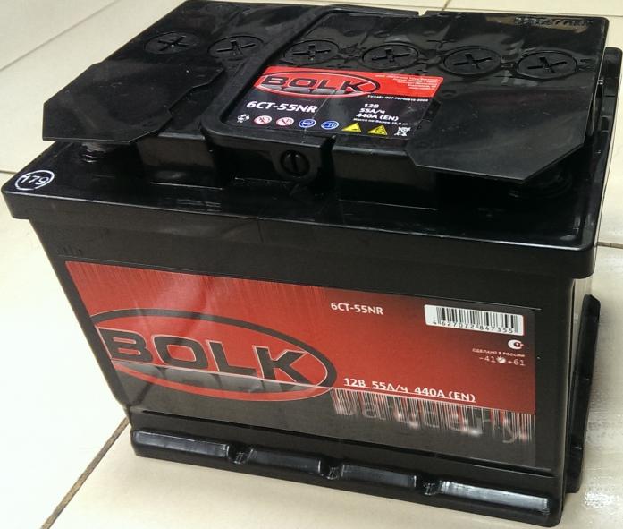 Аккумулятор BOLK 55 А/ч BLACK EN440