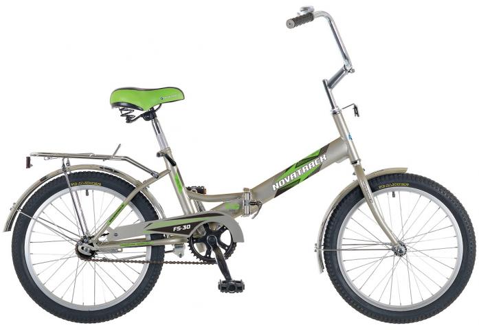 """Велосипед Novatrack FS30 20"""" рама сталь серебристый"""