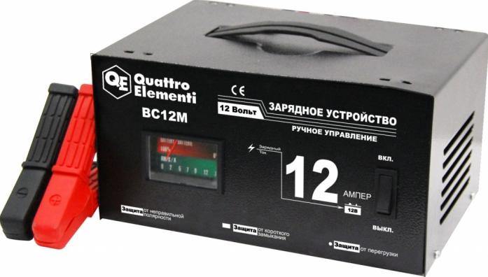 Зарядное устройство QUATTRO ELEMENTI BC12M 770-094