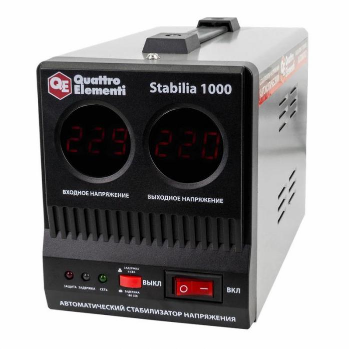 Стабилизатор напряжения QUATTRO ELEMENTI Stabilia 1000 772-043