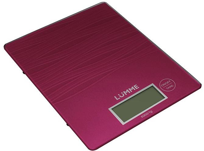 Кухонные весы LUMME LU-1318 красный рубин