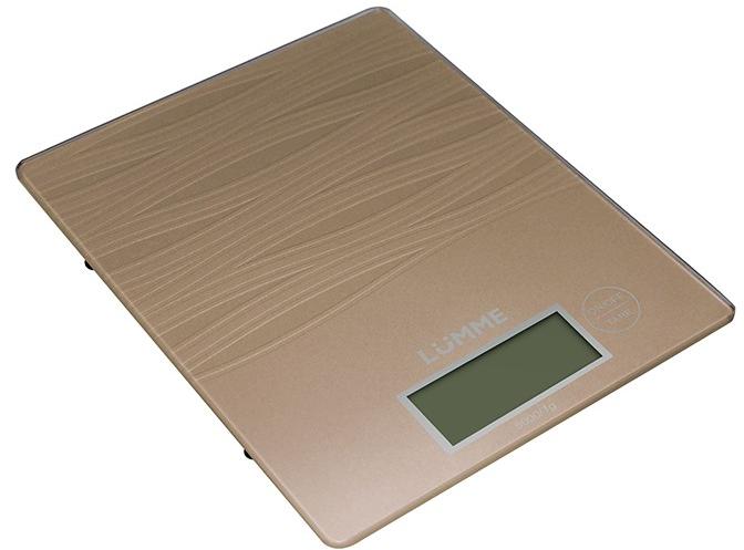 Кухонные весы LUMME LU-1318 сияющая бронза