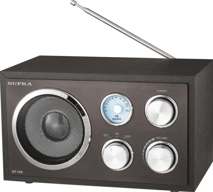 Радиоприемник Supra ST-125 black
