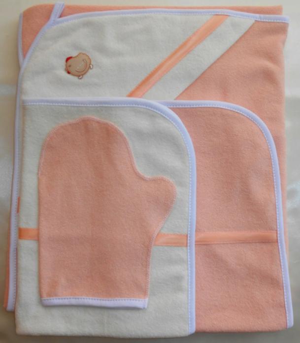 Полотенце Балу для купания 4 предмета, махра, розовый