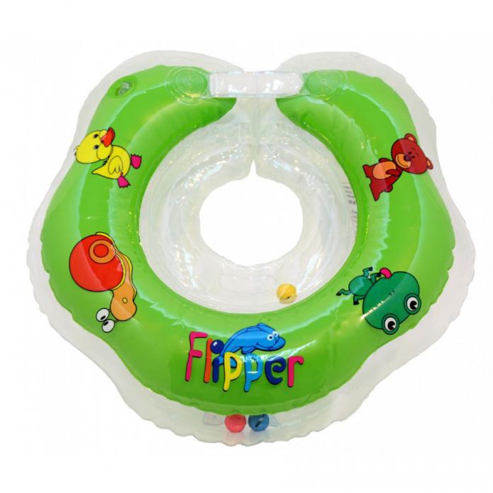 Круг на шею Flipper для купания малышей ЗЕЛЕНЫЙ FL001
