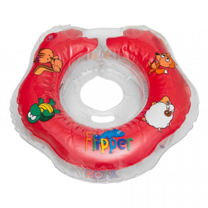 Круг на шею Flipper для купания малышей КРАСНЫЙ