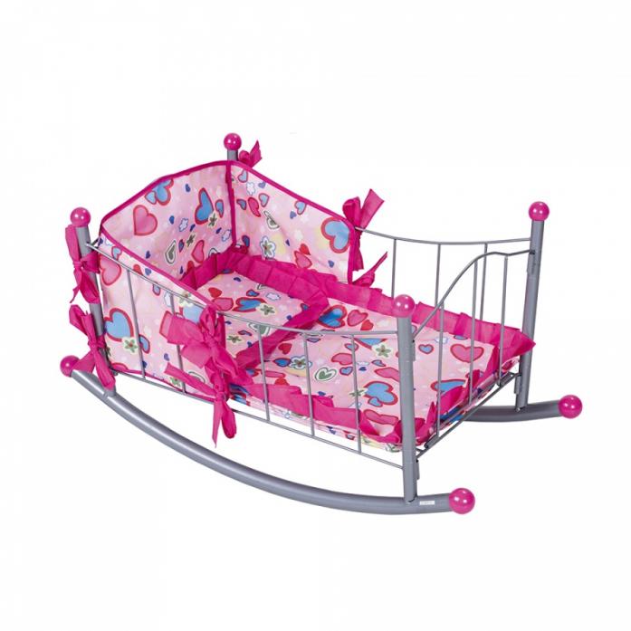 Кукольная кроватка FEI LI TOYS, розовый FL989-3