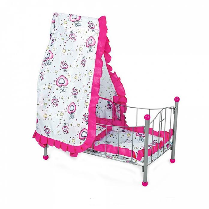 Кукольная кроватка/ Колыбель FEI LI TOYS, розовый FL988