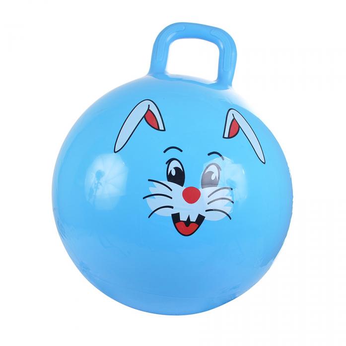 Мяч Spring International зайчик 38см голубой