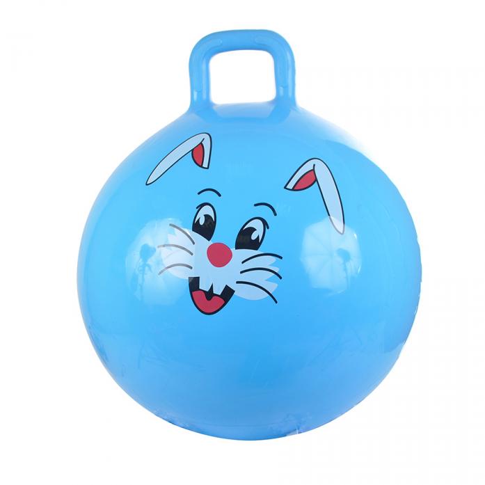 Мяч Spring International ЗАЙЧИК, PVC, с насосом, 55см, Голубой
