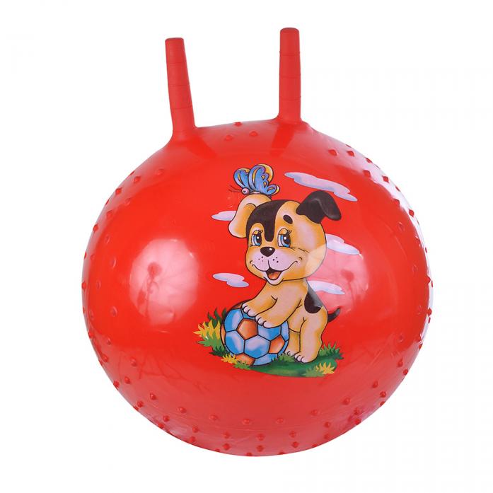 Мяч Spring International СОБАЧКА, PVC, с насосом, 38см, Красный