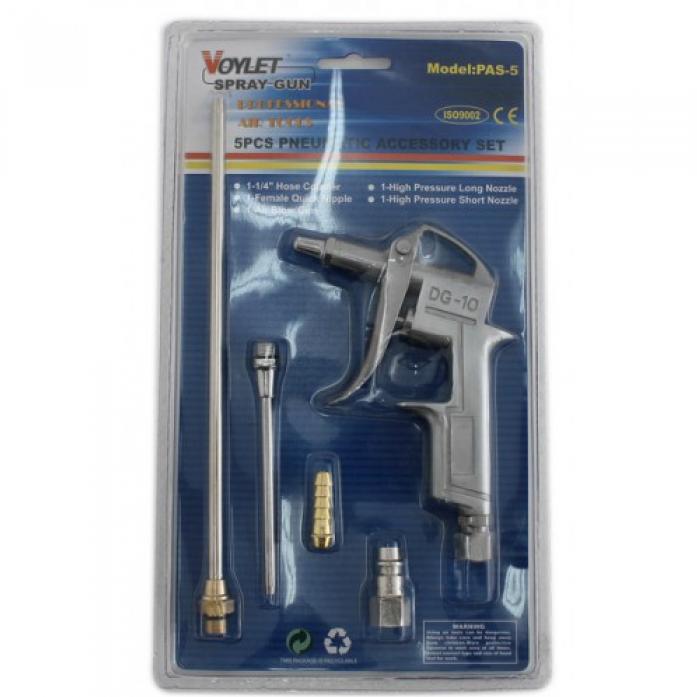 Пистолет продувочный VOYLET PAS-5 в наборе 5пр