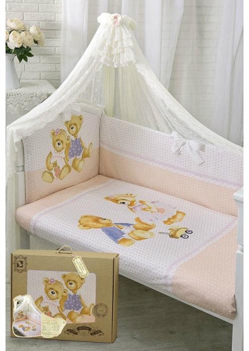 Комплект постельного белья Золотой Гусь Sweety Bear молочный 7 предметов 1753