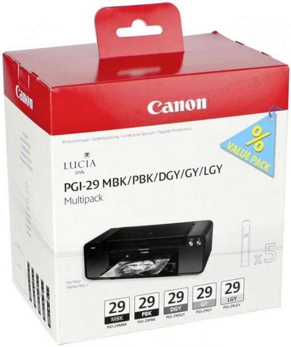 Набор картриджей Canon PGI-29 MBK/PBK/DGY/GY/LGY Multi