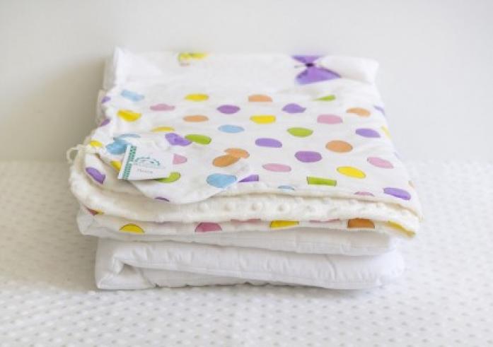 Плед 2 в 1 с одеялом ByTwinz Бабочки 75х100 см
