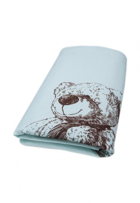 Плед вязаный Сонный Гномик Мишка 600В/1 голубой