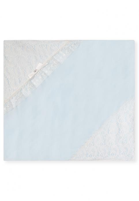 Плед утепленный Сонный Гномик Праздничный 598/1 голубой