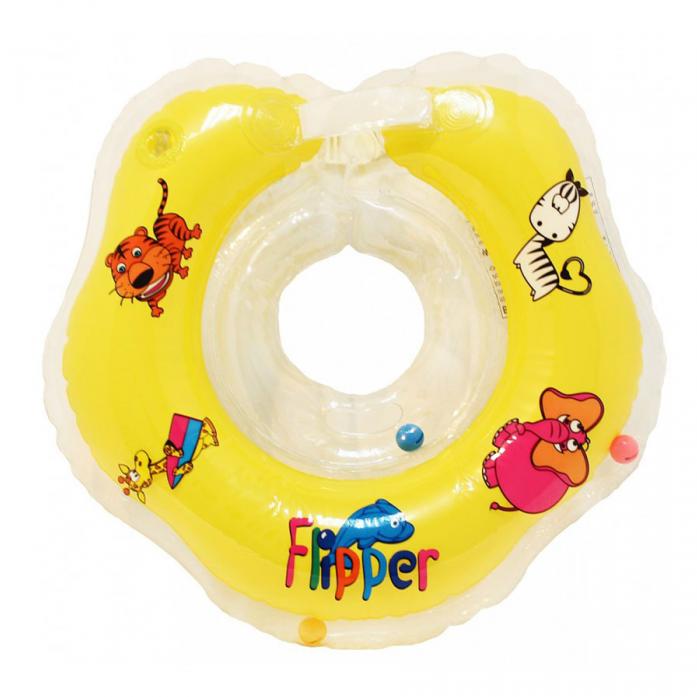 Круг на шею для купания малышей Flipper Желтый