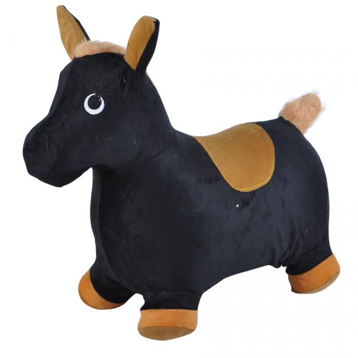 Надувные животные Spring International Пони черный с коричневым