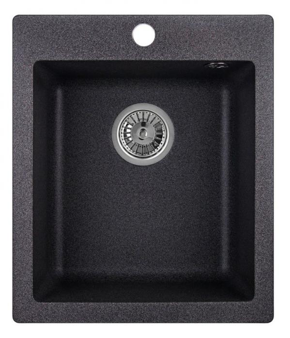 Кухонная мойка Weissgauff QUADRO 420 Eco Granit графит