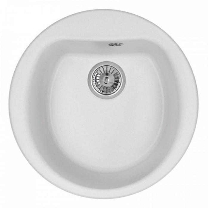 Кухонная мойка Weissgauff RONDO 500 Eco Granit белый