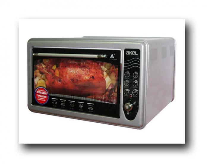 Мини-печь AKEL AF-710 металлик