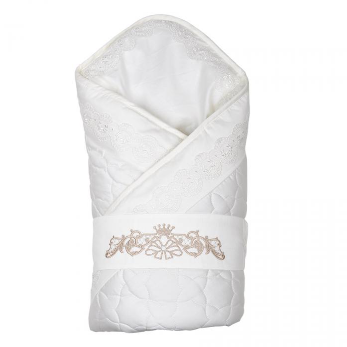 Конверт-одеяло на выписку Pituso Вензель бежевый