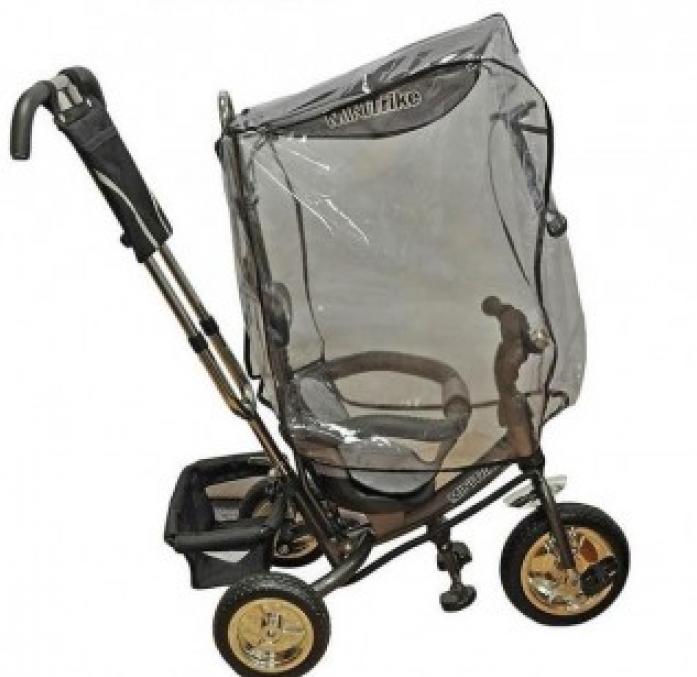 Дождевик Baby Care Trike Cover для ведосипеда с прямым капором прозрачный 17