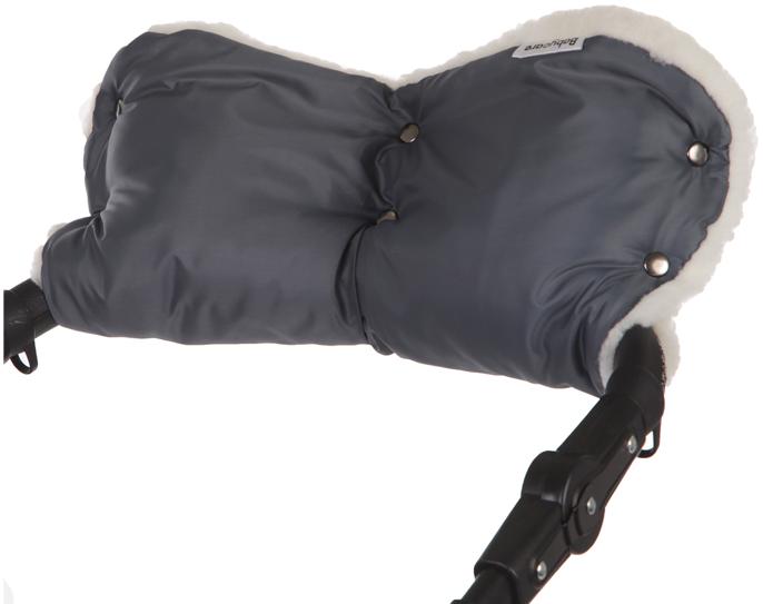 Муфта Baby Care Standard мех+плащевка серый 153
