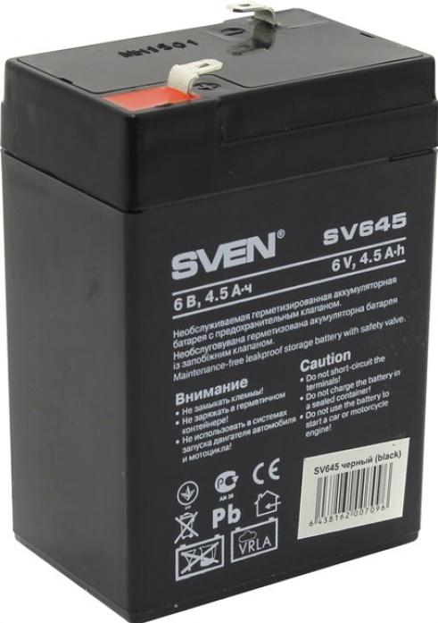 Аккумулятор для ИБП SVEN SV 6V4.5Ah
