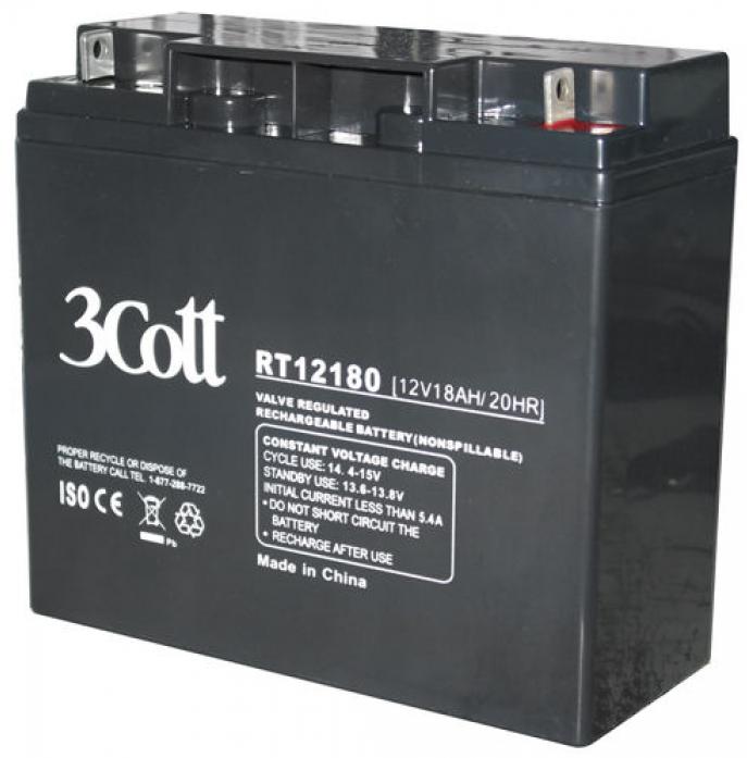 Аккумулятор для ИБП 3Cott 12V18Ah