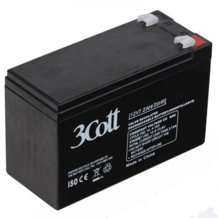 Аккумулятор для ИБП 3Cott 12V7.2Ah