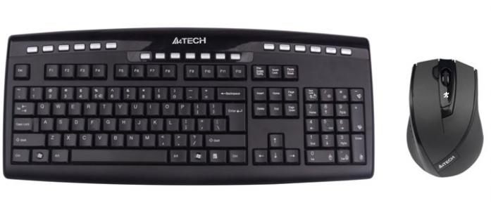 Клавиатура + мышь A4TECH W 9200F черный