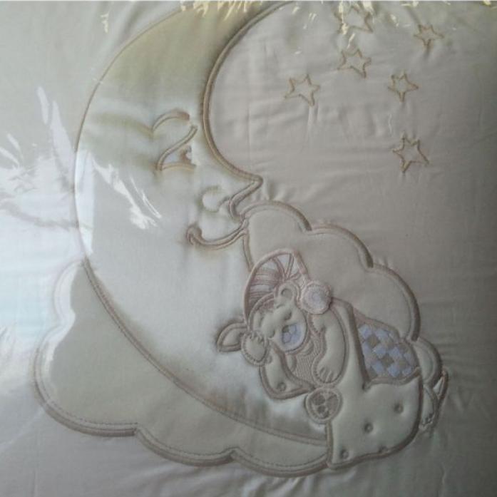 Комплект постельного белья Сдобина Облачка белый 87 (7 предметов)
